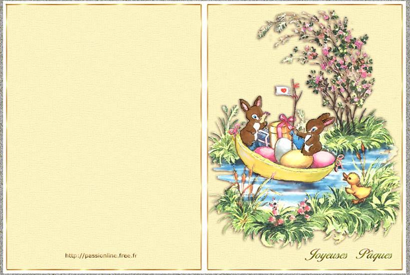 Exceptionnel de voeux à imprimer : Lapins de Pâques UY94